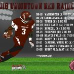 Uniontown Football 2018 Schedule!
