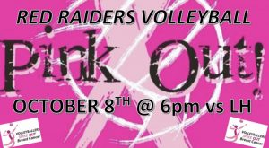 Pink Out!! Uniontown Volleyball vs. LH