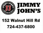 Thank you to tonight's vball game sponsor… Jimmy John's!