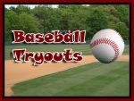 Varsity/JV Baseball Tryouts Monday 3/8 @ 3pm