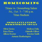 Homecoming This Friday, Oct 5