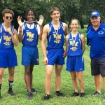 CROSS COUNTRY RUNNERS AT BOSTON TRAIL INVITATIONAL