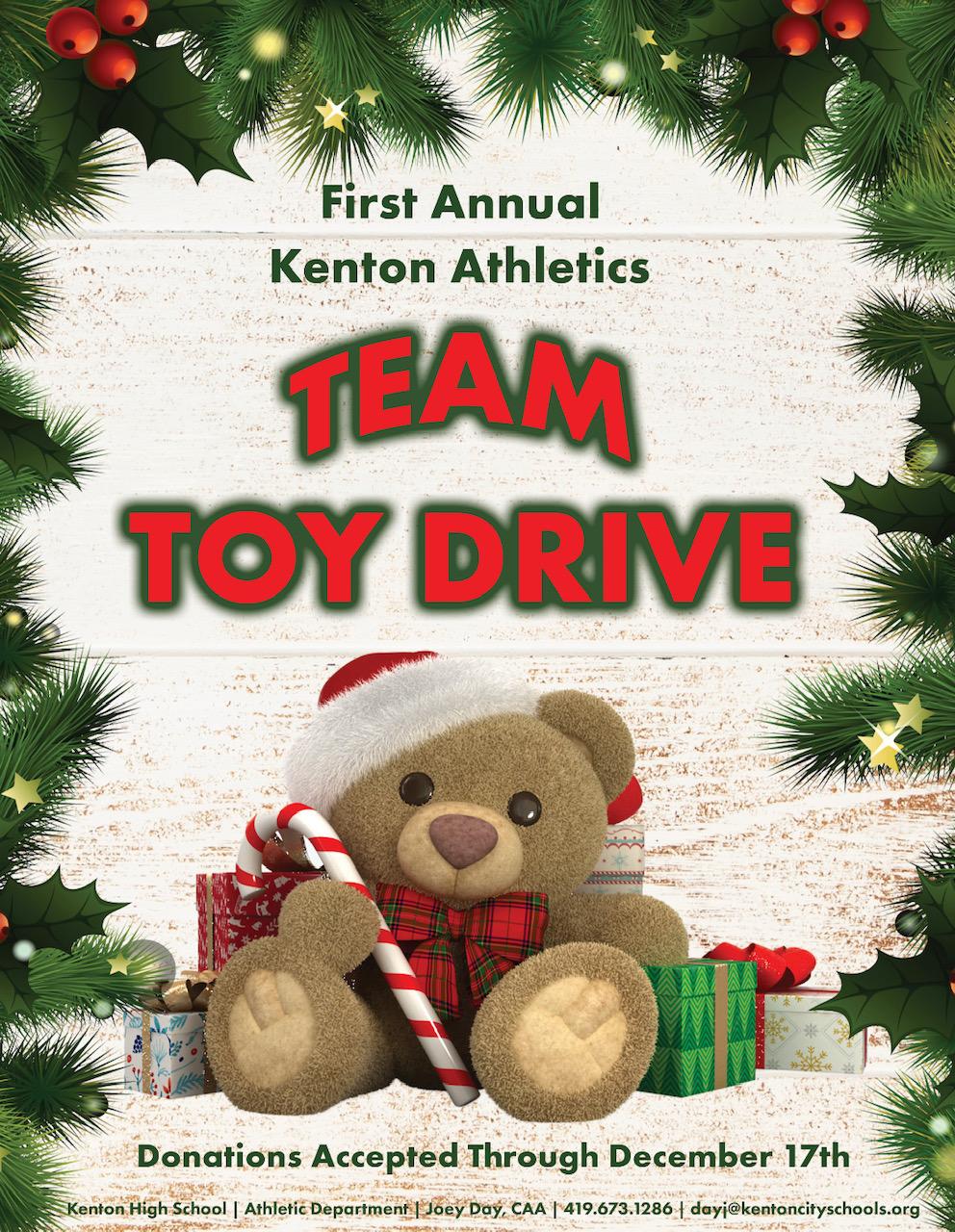 1st Annual Kenton Athletics Team Toy Drive