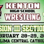Kenton Wrestling Schedule to Compete at OHSAA Division III Sectionals at LCC February 28 & 29, 2020