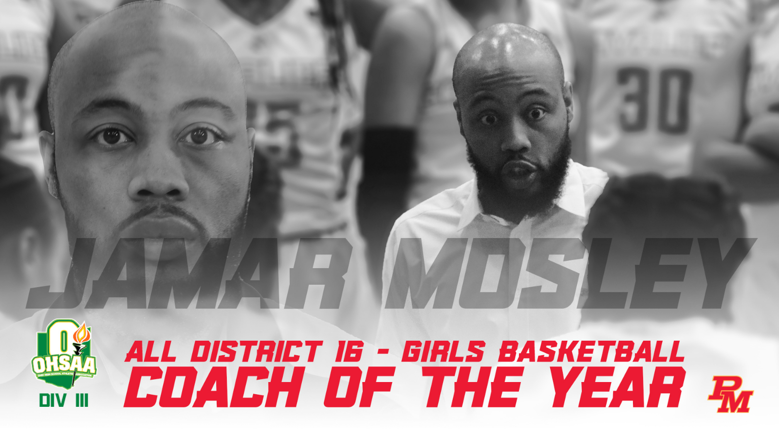 Coach Jamar Mosley voted District 16 Coach of the Year