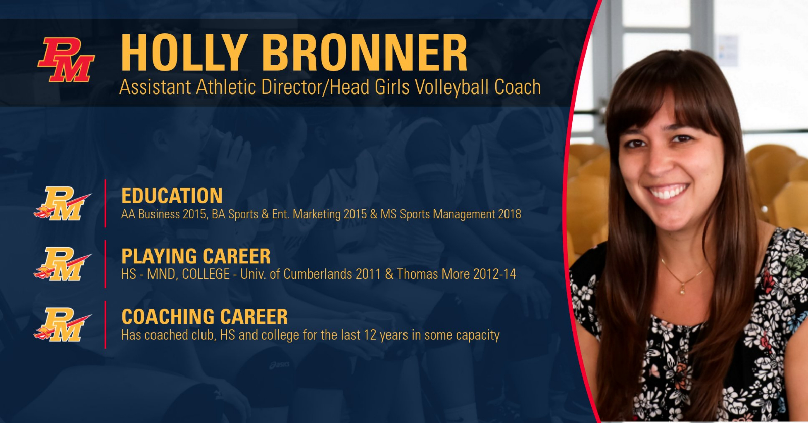 MND Grad Holly Bronner tabbed as new Assistant Athletic Director