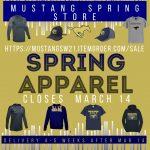 MUSTANG SPRING FAN GEAR SHOP IS OPEN! Order by March 14.