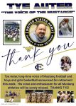 Thank you Tye Auter – The Voice of the Mustangs