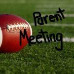 2019 HIGH SCHOOL FOOTBALL:  Player/Parent Meeting