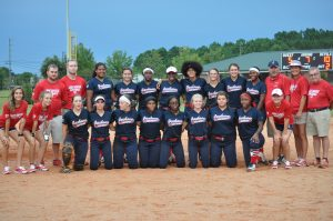 Lady Red Devils Softball vs. Strong Rock 8/9/18