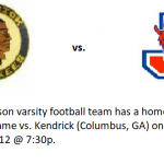 Football Red Devils vs Kendrick 10/12/18