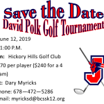 David Polk Golf Tournament 2019-Save the Date