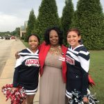 Red Devil Cheerleaders Greet Students at Daughtry Elementary-1st Day 2019