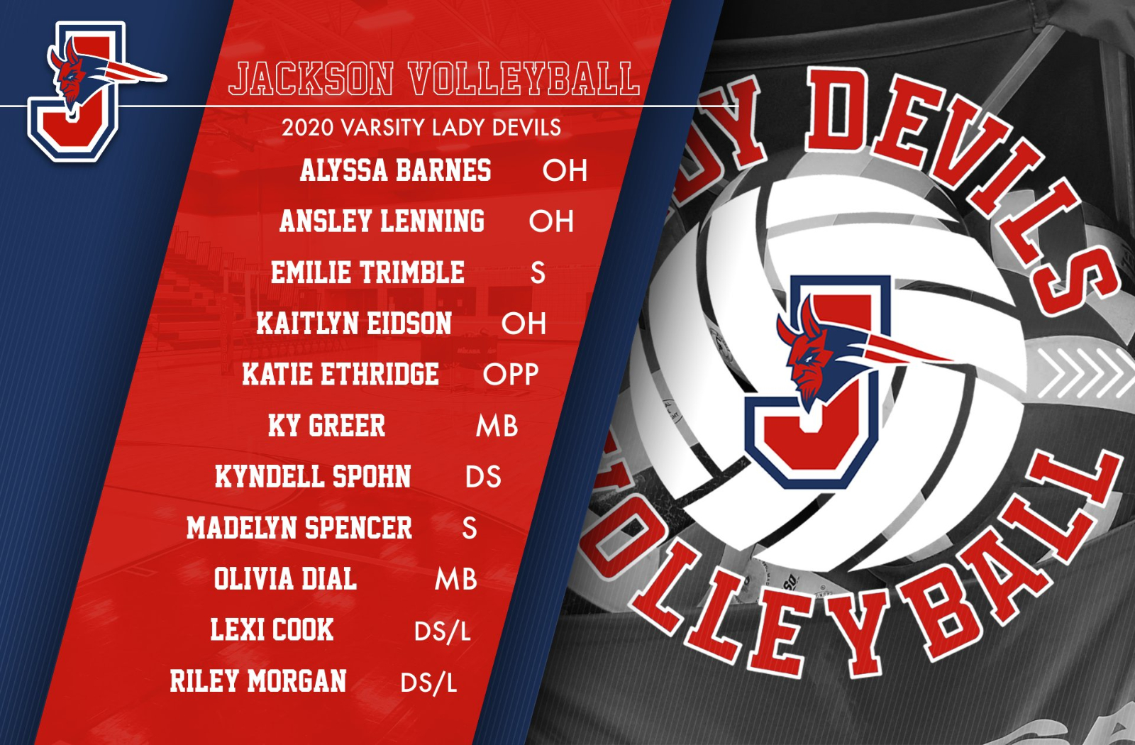 2020 Lady Devils Volleyball