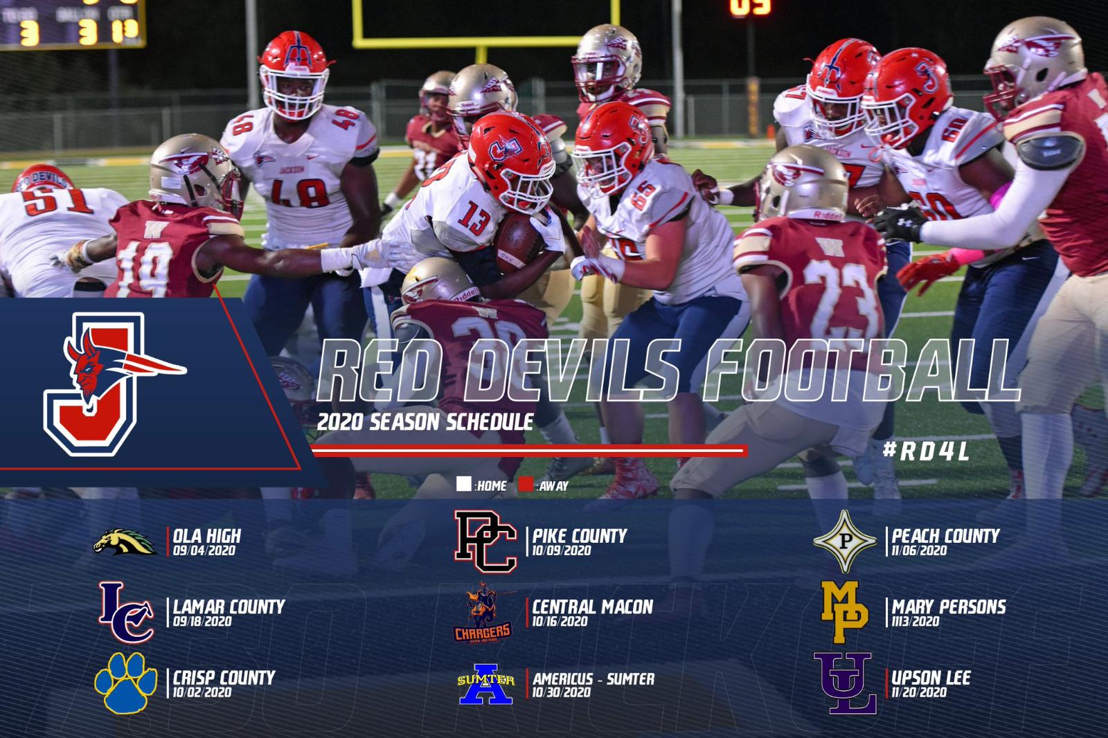 2020 Red Devils Football Scheduled