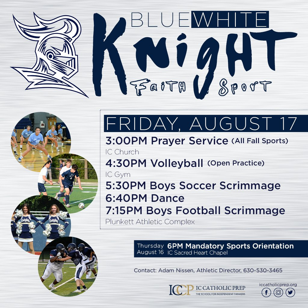 Blue/White Knight Is This Friday. Come Out And Support!
