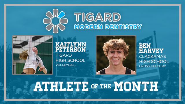 And the Tigard Modern Dentistry October Athlete of the Month is….