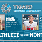 And the Tigard Modern Dentistry November Athlete of the Month is….