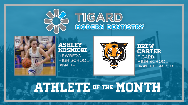 And the Tigard Modern Dentistry December Athlete of the Month is….