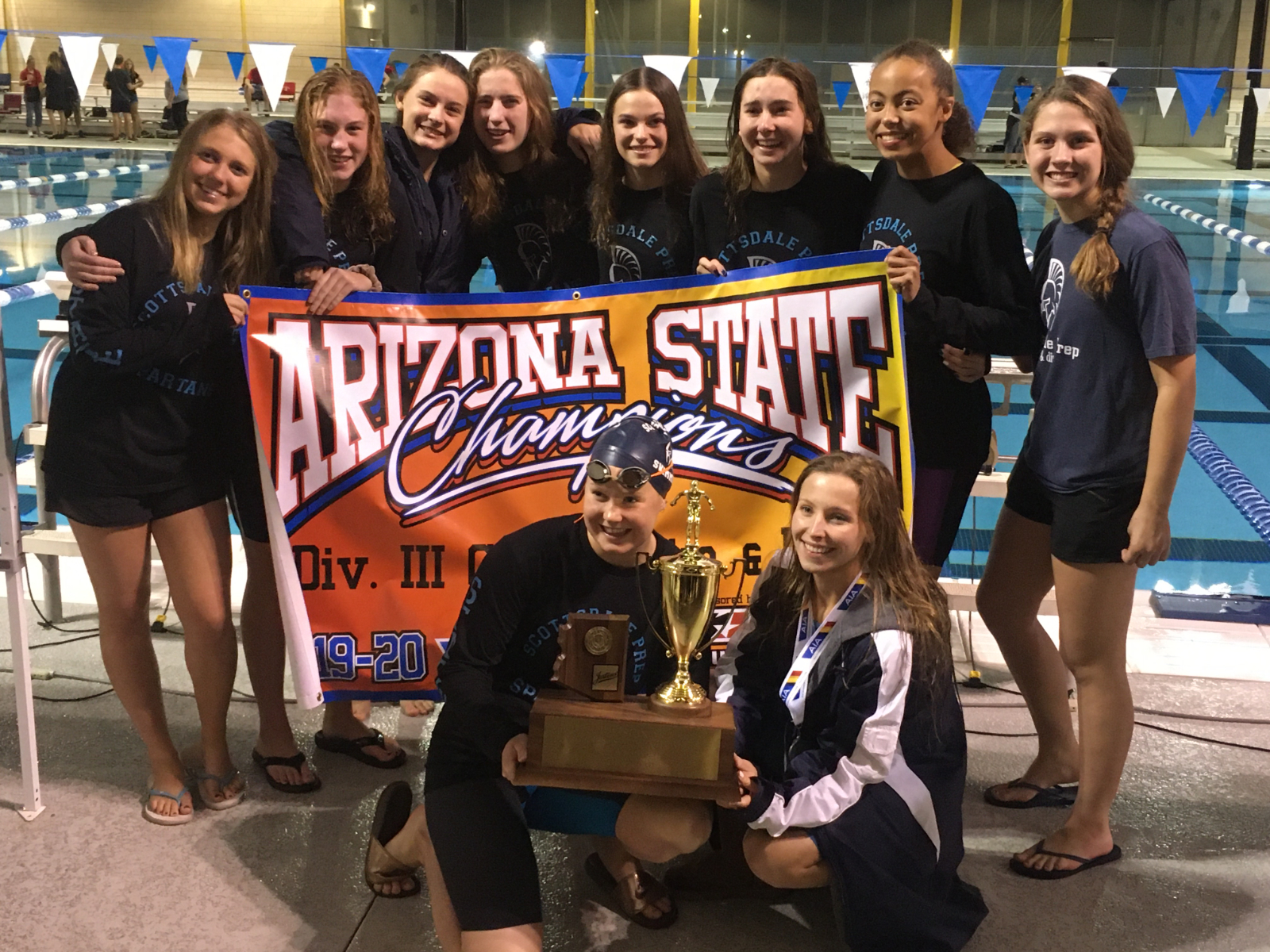 Spartan High School Girls Swim and Dive State CHAMPS!