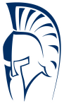 Navy and white Spartan helment logo