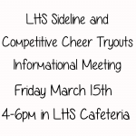 Cheer Tryouts Coming Up!