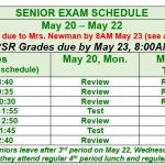 Graduation Announcement Delivery and Senior Exam Schedule