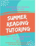 Summer Reading Tutoring