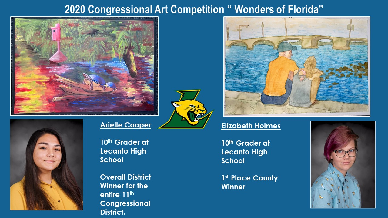 Two Lecanto High Students Win Congressional Art Competition