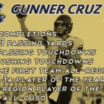 Best of Luck Gunner Cruz!