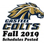 Fall 2019 schedules have posted
