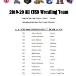 Congratulations to the 2019-20 All CUSD Wrestling Team!