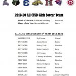 Congratulations to the 2019-20 All CUSD Girls Soccer Team!
