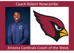 Arizona Cardinals High School Coach of the Week – Bobby Newcombe, Casteel High School