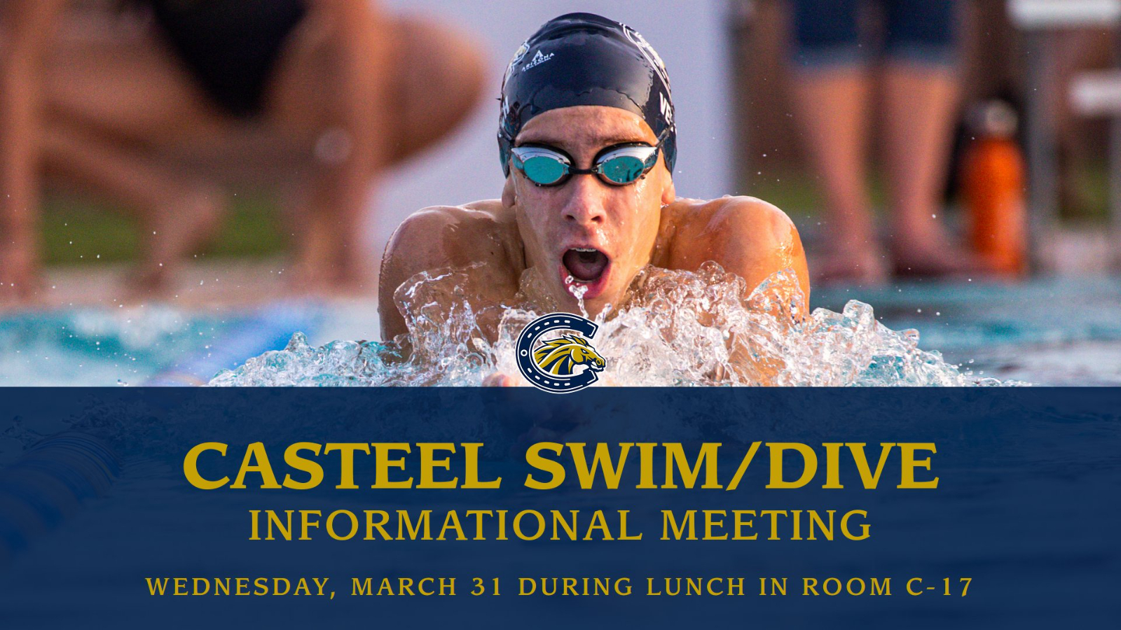 Meet Coach Leo – Swim/Dive meeting tomorrow during lunch in C-17