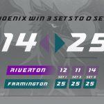 Girls Volleyball Dominates Riverton 3-0