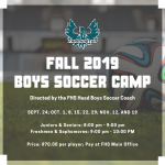 Fall Boys Soccer Camp