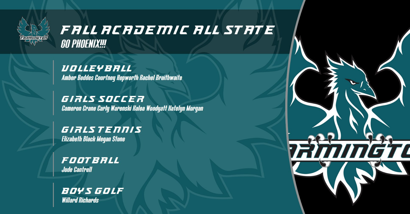 Fall Academic All-State