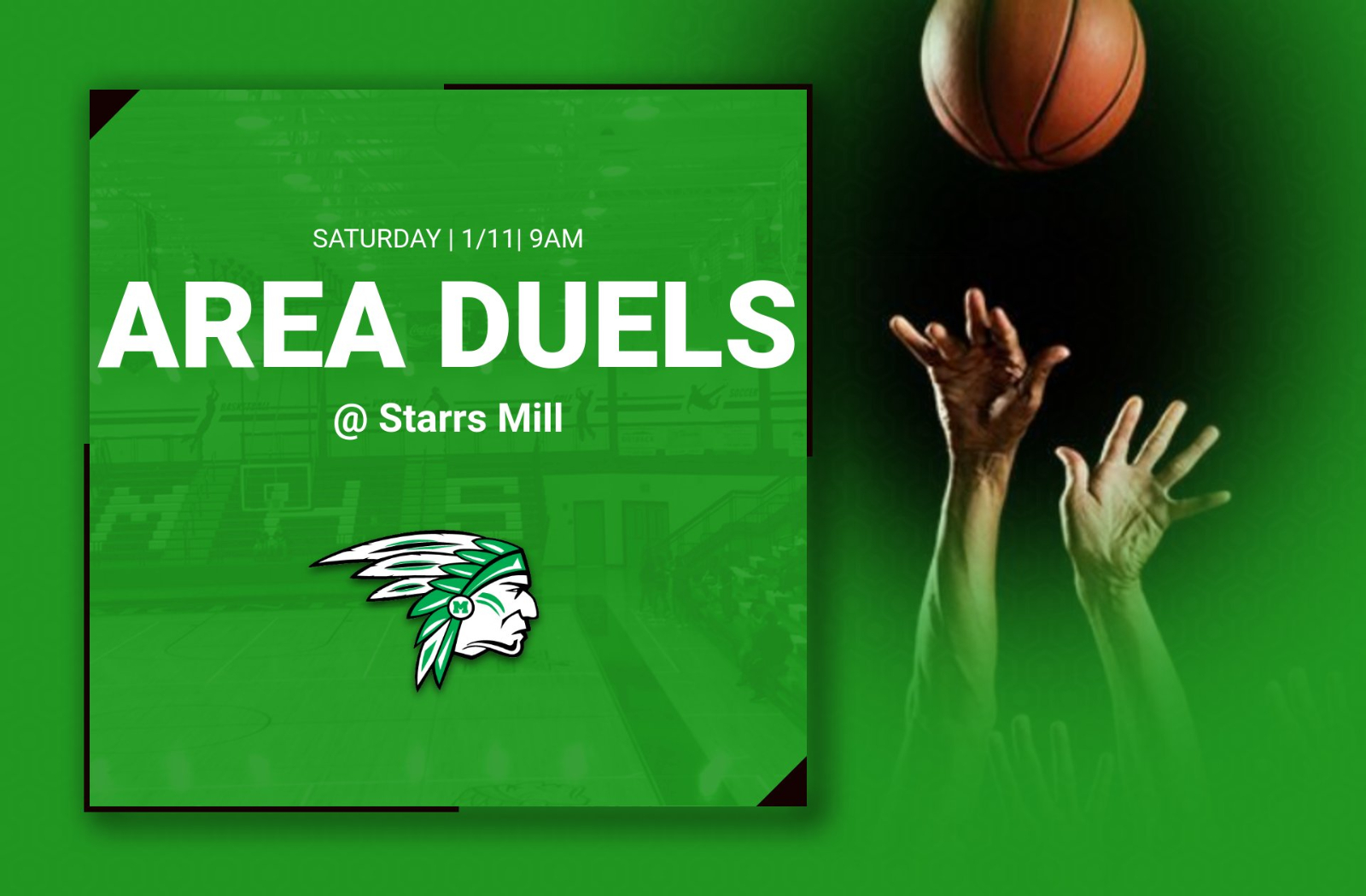 Wrestling Area Duels Saturday 1/11 @ Starrs Mill
