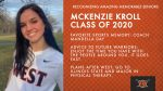 Class of 2020 Warrior Spotlight: McKenzie Kroll-Softball