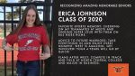 Class of 2020 Warrior Spotlight: Erica Johnson-Sideline Cheer, Competitive Cheer Committed to Compete in Track & Field at North Central College