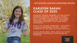 Class of 2020 Warrior Spotlight: Karleigh Baran-Cross Country Committed to Compete in Track & Field at Olivet Nazarene University