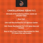 Cancellations Today 9/1