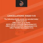 Cancellations Today 9/8