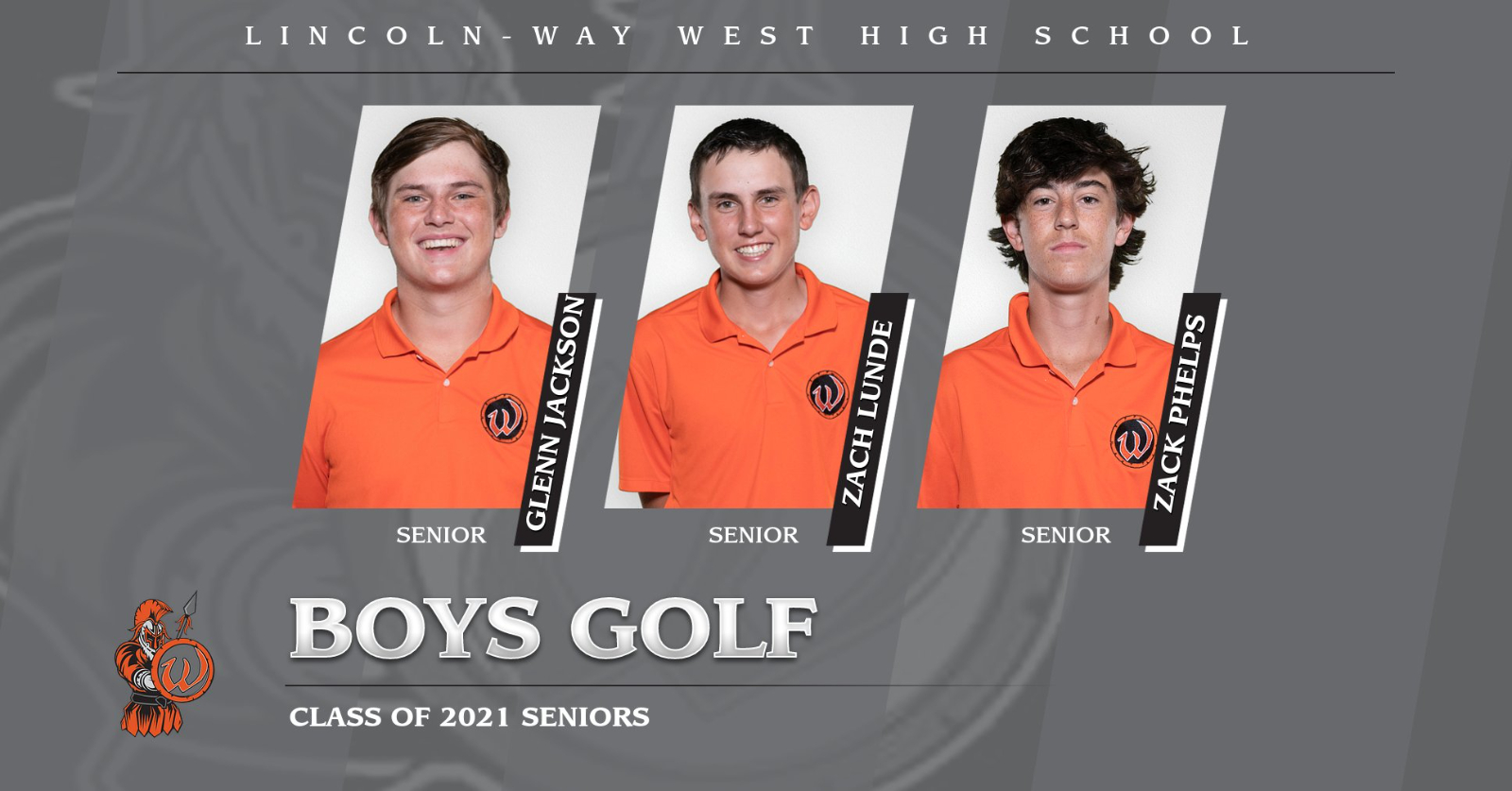 Our boys golf team are recognizing the following seniors today at their home match vs Plainfield East: Glenn, Zach & Zack. Good luck Warriors!