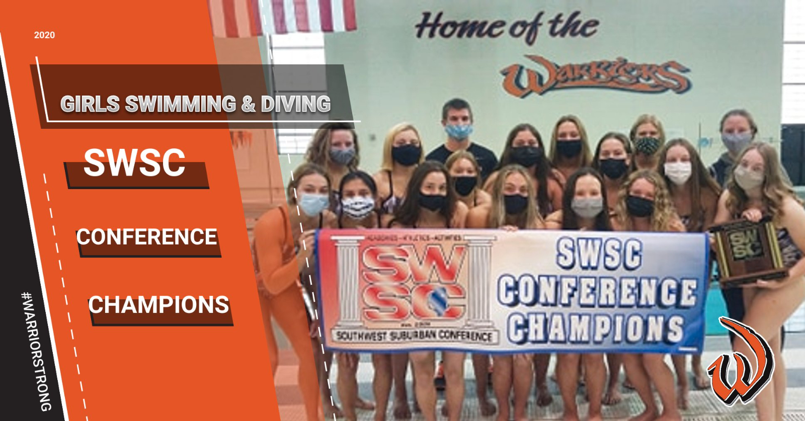 Congratulations to our Girls Swimming & Diving team who are Conference Champions for the first time in program history!