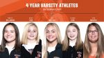 We would like to recognize our 4 year varsity athletes from girls swimming/diving & tennis! Amelia, Kasey, Lea, Teagan & Vica