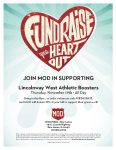 Athletic Boosters Dine & Donate is Thursday, Nov. 19th at Mod Pizza