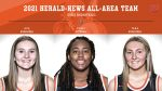 Congratulations to Ava Gugliuzza, Evan Pittman and Tara Gugliuzza for making the Herald-News All-Area team for Girls Basketball! Great job Warriors!