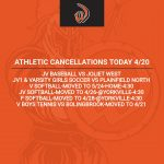 Athletic Cancellations Today 4/20